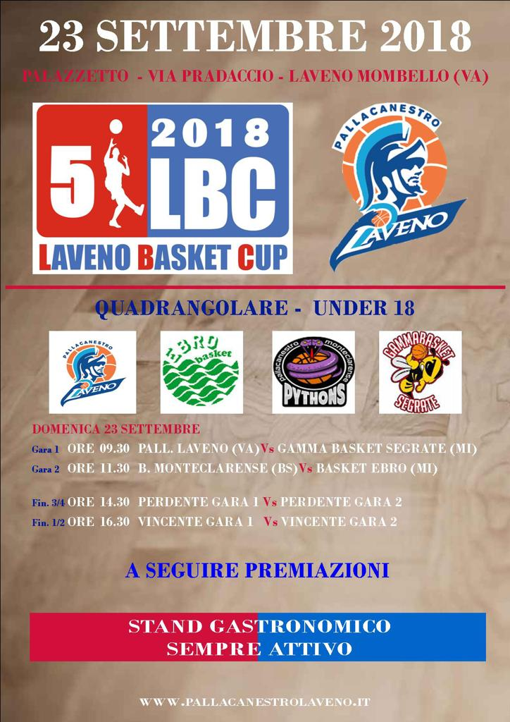 Under 18 alla Laveno Basket Cup 2018